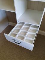 White tie/belt drawer dividers