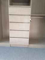 Hidden kick drawer closed
