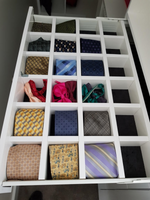 Tie & belt dividers made to suit any drawer size