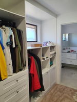 Wardrobe built to suit existing window.