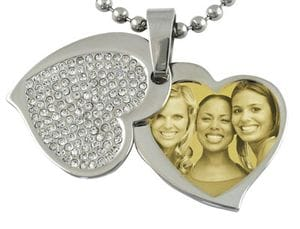Contemporary Heart (with cover) Pendant