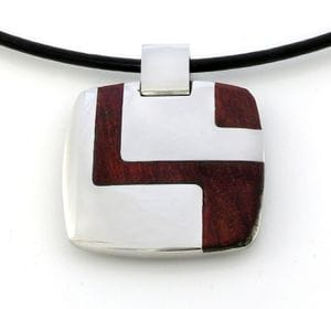 Wooden Pattern Pendant