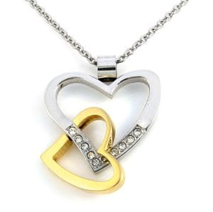 Double Heart Pendant vrs 2