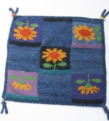 Was <del>$98.00</del> - Flower Cushion blue