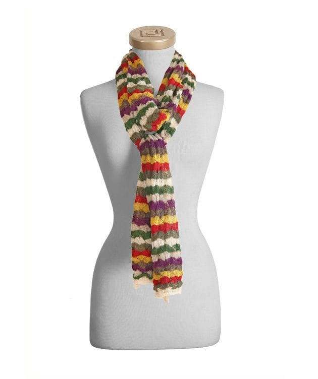 Alpaca Multi Color Shell Pattern Scarf