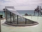 Safety Beach - View from exterior of segmented glass roof and an enclosed glass stairway.