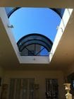 Geelong - An interior view of the open bi-parting barrel vault style retractable roof