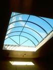 Narre Warren - An internal view of the closed bi-parting barrel vault style retractable roof