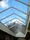 Camberwell - An internal view of the closed single sliding gable style retractable roof