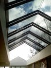Camberwell - An internal view of the open single sliding gable style retractable roof