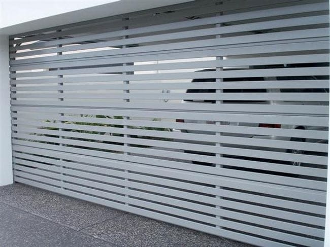 Aluminium Slatted Door & Aluminium Slatted Panelift Door