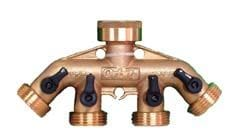4 WAY TAP MANIFOLD WITH VALVES