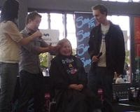 Just Cuts Kawana Shopping Centre appearance - I was actually trusted with the scissors!