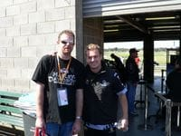 Me with Andrew Monro at Sandown - 2007