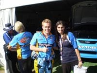Me with Sarah at the Adelaide Clipsal - 2009