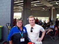 Me with Robyn at the Bathurst 12 hour race, 2009