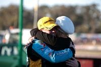 Me with my girl Chezzi after the big win at Winton!