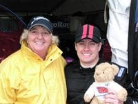Me with Sue & Migsi the Bear.  Migsi has come from England and is traveling Australia to raise funds for cancer research.
