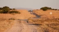 The road into Winton - Outback Trek May 2009