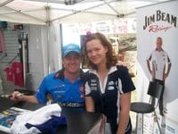 Grant with Anna-Leise at QLD Raceway 2009