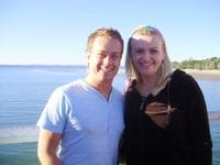 Me with Nicky at Hervey Bay - May 2010