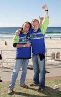 That's me in this photo after plunging out of a helicopter over Bondi Beach for the new Guinness World Record!