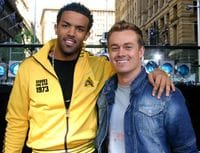 The one and only Grant Denyer, with Craig David