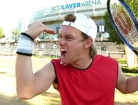 One of the most memorable moments of 2005. Confusing everyone at the Australian Open by dressing up as Lleyton Hewitt.