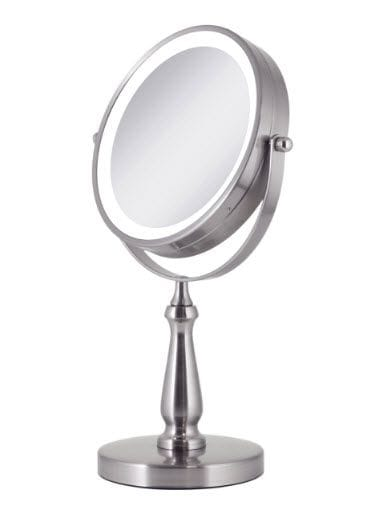 LED Lighted Vanity Mirror 8x Magnification