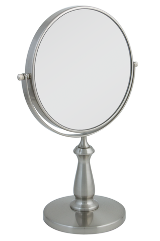 Zadro 8X Magnifying Mirror with Satin Nickel Finish