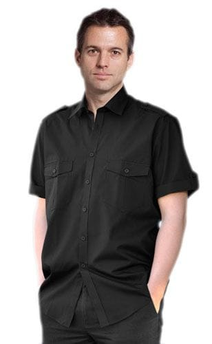 Men's Short Sleeve Military Shirt