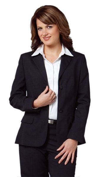 Women's Wool Blend Stretch Mid Length Jacket