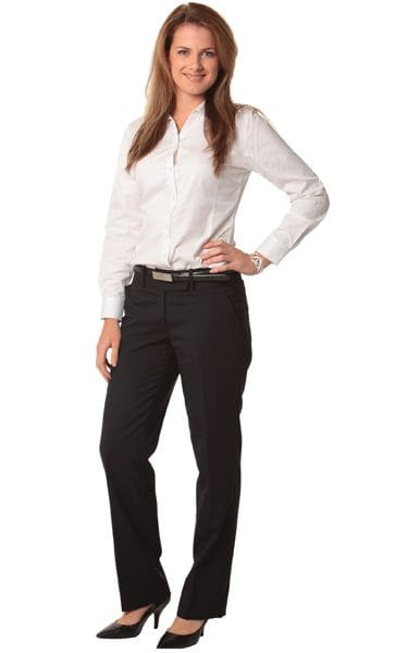 Women's Wool Blend Stretch Low Rise Pants