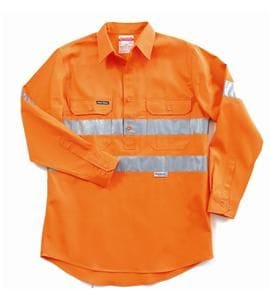 Hi-Visibility Closed Front Cotton Drill Shirt