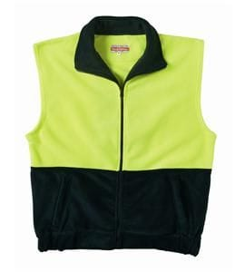 Hi-Visibility Two Tone Full Zip Polar Fleece Vest