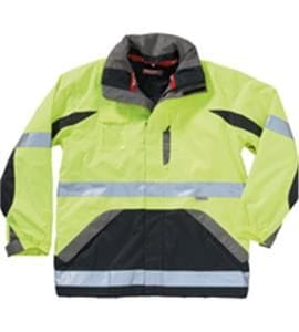 Hi Visibility Two Tone Wet Weather Quilted Jacket
