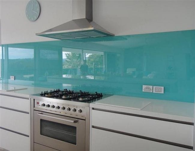 This Gl Splashback Added Such A Beautiful Calming Effect To Beach Side Home Kingscliff