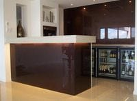 Glass Splashback Chocolate Brown Gold Coast