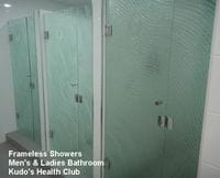 Textured Glass Shower Screens at