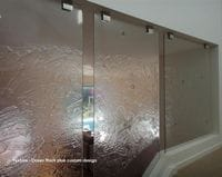 Textured Glass Feature Panel to Stairwell Tweed Heads