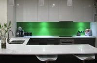Our client was so happy with their stunning green splashback. Tweed Heads