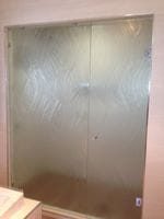 Textured Glass Shower Screen Gold Coast