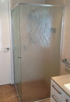 Semi Frameless Textured Shower Screen Ballina