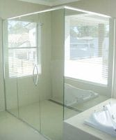 Semi frameless Corner Shower Screen. All custom made. Gold Coast