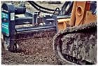 Power Rake attachment for Posi Trac Bobcat
