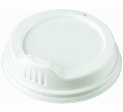 White SIPPA lid to suit 8oz hot drink cup