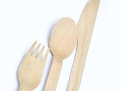 WOODEN DESSERT SPOON SLEEVE OF 100