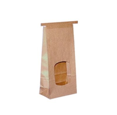 SMALL BROWN PAPER RETAIL WINDOW BAG