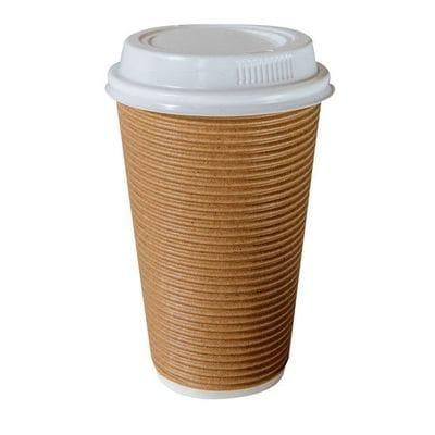 """8oz Triple Wall """"Twist"""" Hot Drink Cup - Tan"""