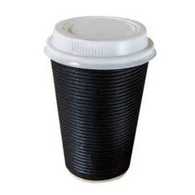 "12oz Triple Wall ""Twist"" Hot Drink Cup BLACK"